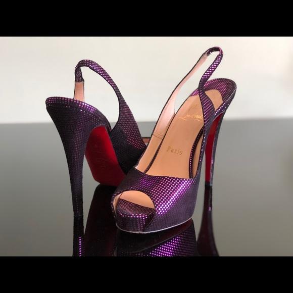 a3833778a8b Christian Louboutin Shoes - Christian Louboutin Prive Metallic Slingback